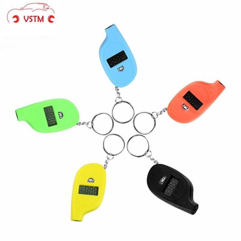 Mini Portable Mini Keychain Digital Auto Wheel Air Pressure Gauge Meter Test Tyre Tester Vehicle PSI