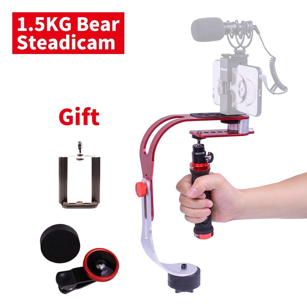 DIGITALFOTO DF02 DSLR estabilizador de cámara mini video steadicam para Gopro acción Cámara smartphone 1,5 kg peso del oso