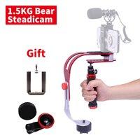 DIGITALFOTO DF02 DSLR handheld Camera stabilizer mini video steadicam for Gopro action video camera smartphone 1.5KG Weight bear
