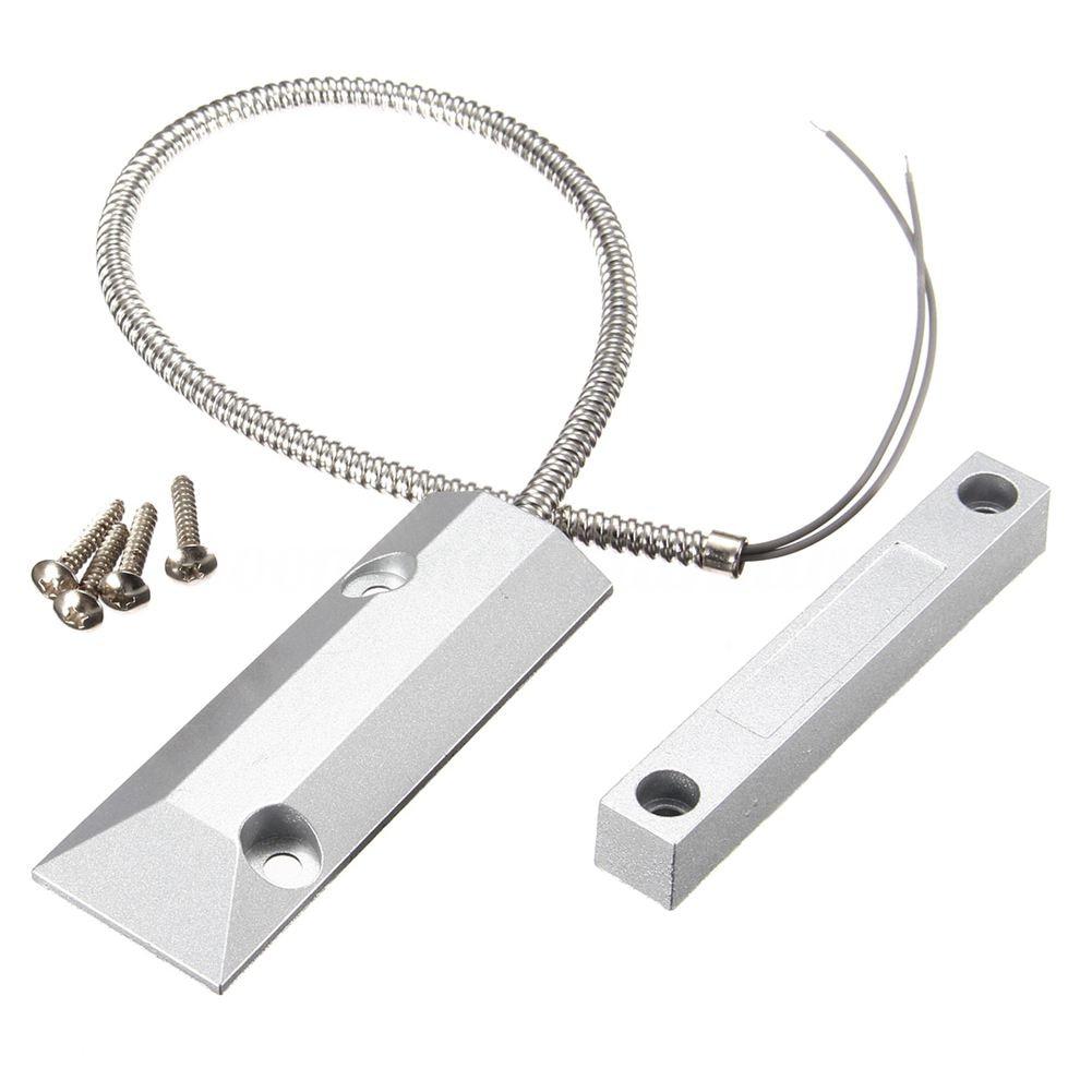 MOOL 2Pcs Alarm Magnetic Reed Switch Detector Sensor Roller Shutter Garage Door thyssen parts leveling sensor yg 39g1k door zone switch leveling photoelectric sensors