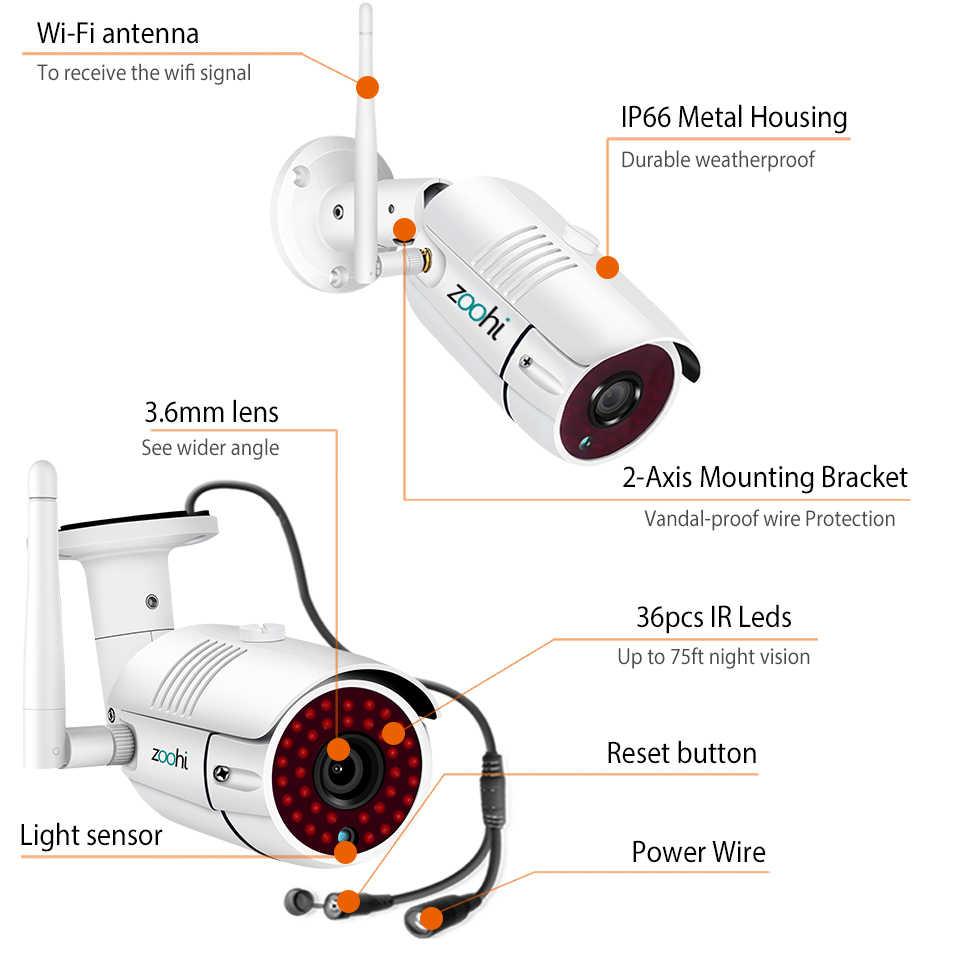 Zoohi Giám Sát Hệ Thống Bộ 1080 P 2MP HD Camera WIFI Gia Camera An Ninh Hệ Thống Nhìn Đêm Giám Sát Video Bộ