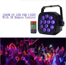 4X много нового 12*3 Вт УФ светодиодный Par светло-фиолетовый светодиодный свет Voliet Par проектор Освещение сцены с удаленный Управление звук