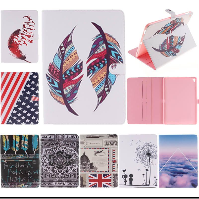 2016 For Apple ipad pro 9.7 Case Tablet Stand Funda For ipad pro 9.7 inch Folding PU Leather Cases Accessories S4D33D