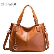 CHISPAULO Genuine Leather Bags For Women Vintage bags handbags women famous brands Women Messenger Bags sac