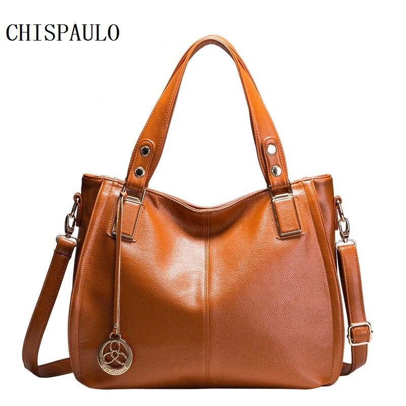 CHISPAULO Genuine Leather font b Bags b font For font b Women b font Vintage font