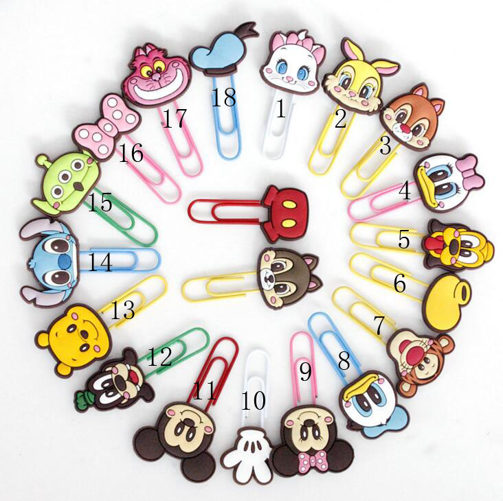 Hotsale Cartoon Character Metal Binder Clips Notes Letter Paper Clip Office School Supplies Bookmark Promotional Gift Stationery deli binder clip 8552 four colors wallet file document paper note memo clips 24 pcs a pack office supplies stationery