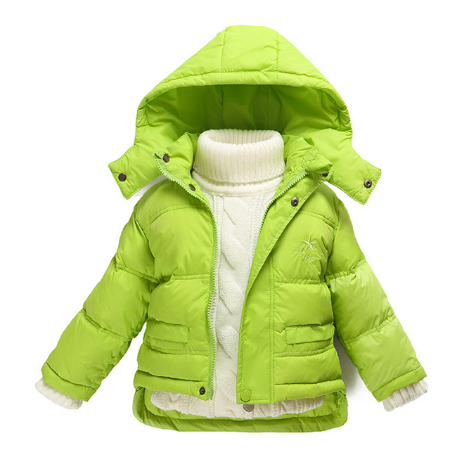 New Boys Girls Winter Down Coats Jackets Warm Children Hooded Clothes Windproof For Kids Infant Baby Outerwear Fashion Clothing