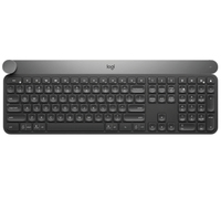 Logitech Craft Wireless Keyboard Deep Gray Intelligent Control Knob Bluetooth Superior Dual Mode Connection Multiple Device Co