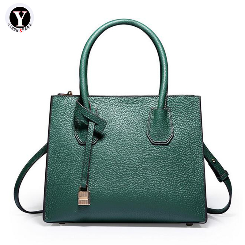Yirenfang Fashion 2018 Genuine Leather Bags For Women Shoulder Bags New Luxury Handbags Women Bags Designer Ladies Hand Bags women leather handbags ladies shoulder crossbody bags new genuine leather women messenger bags fashion simple female hand bags