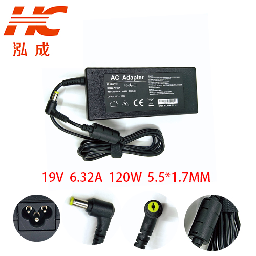 <font><b>Power</b></font> <font><b>Adapter</b></font> For ACER <font><b>19V</b></font> 6.32A ADP-120ZB BB 120W Aspire 5943G 5950G 8942G <font><b>DC</b></font>:5.5*1.7mm Notebook Laptop AC <font><b>Adapter</b></font> Charger image