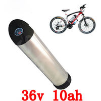 36V 10ah water bottle battery 36V 10AH Electric bike battery 36V 500W Lithium battery with 15A BMS +42V 2A Charger free tax