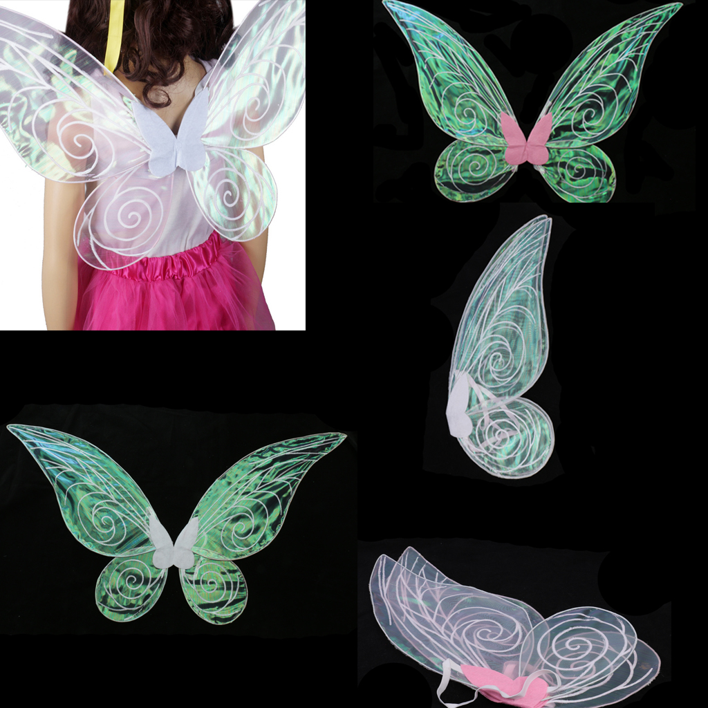 Shiny Color Changing Butterfly Angel Fairy Wing Adult Party Fancy Dress for Wedding Birthday Baby Shower Party Favor Decor Gift