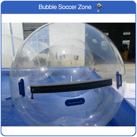 Free Shipping Clear 2m Inflatable Hamster Ball Inflatable Water Walking Ball Zorb Ball Water Balls Zorbing Balloon
