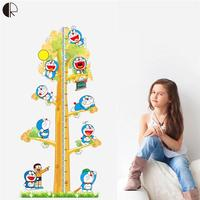 Children Height Ruler Wall Sticker Tree mirror wall stickers For Kids Room Diy Children Vinyl Wall Decals Mural Posters HH1408