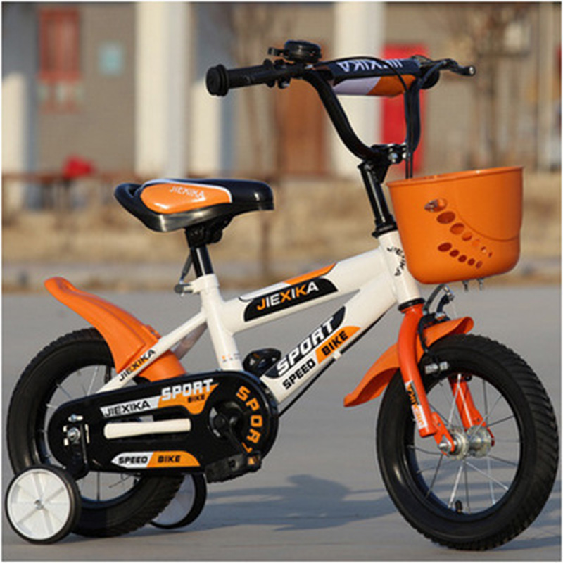 Children's Bicycle 18-Inch High Version Of The Boy And Girl Baby Buggy 6 Years Old Mountain Bike Child Four-Wheel Bike