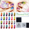 BORN PRETTY Glitter Shimmer Temperature Color Changing Thermal Manicure Nail Art Soak Off UV Gel Polish