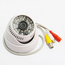 1/3″ 600TVL 48IR Leds Color CCTV Dome Wide Angle 3.6mm lens Camera with Audio security system