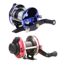 Cyber Monday 3.6:1 Fully Adjustable Ball Bearings Right Saltwater Ice Fishing Tackle Trolling Reels Line Drum Wheel Ice TB Liner Baitcasting