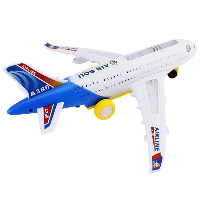 29/43 cm 플라스틱 에어 버스 A380 비행기 모형 전기 - 장난감 차량
