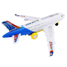 29/43 cm Plastic Airbus A380 Airplane Model Electric Flash Light Sound Toys Plane Model Toys for Kids Gift 36cm a380 qatar airlines airbus model qatar international aviation airways resin aircraft model airplane a380 plane model gift
