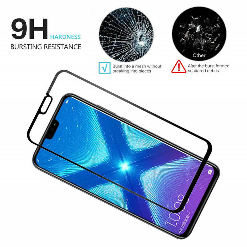 9D Transparansi Tinggi Pelindung Kaca untuk Huawei Kehormatan 8X7X8 S 7S 20i 10i Pelindung Layar untuk Huawei Kehormatan Tersedia 20 Program 10 Lite