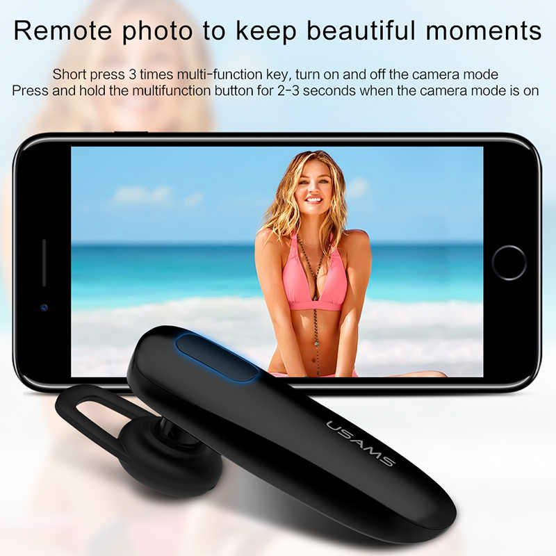USAMS For iPhone Samsung Wireless Bluetooth Earphones HD Noise Reduction  Microphone MIC Stereo Hand free bluetooth 4 1 Headset