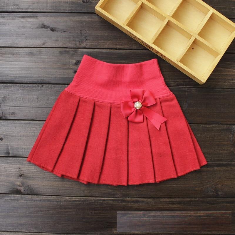 5ad3b1588 2015 muchachas del otoño faldas plisadas moda muchachas del estilo de ropa  de lana de algodón lindo los niños de la cintura faldas en Faldas de Mamá y  bebé ...