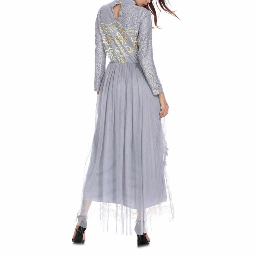 Одежда мусульманская абайя мусульманское платье на Ближнем Востоке арабское платье 2019 вышитое элегантное женское платье с поясом