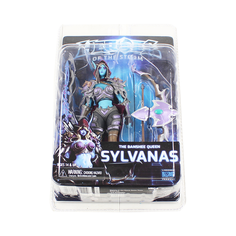 17cm NECA HEROES of the STORM Game Figure The Banshee Queen Sylvanas Action Figure Model Toy 17cm game of thrones action figure toys sword chair model toy song of ice and fire the iron throne desk christmas gift