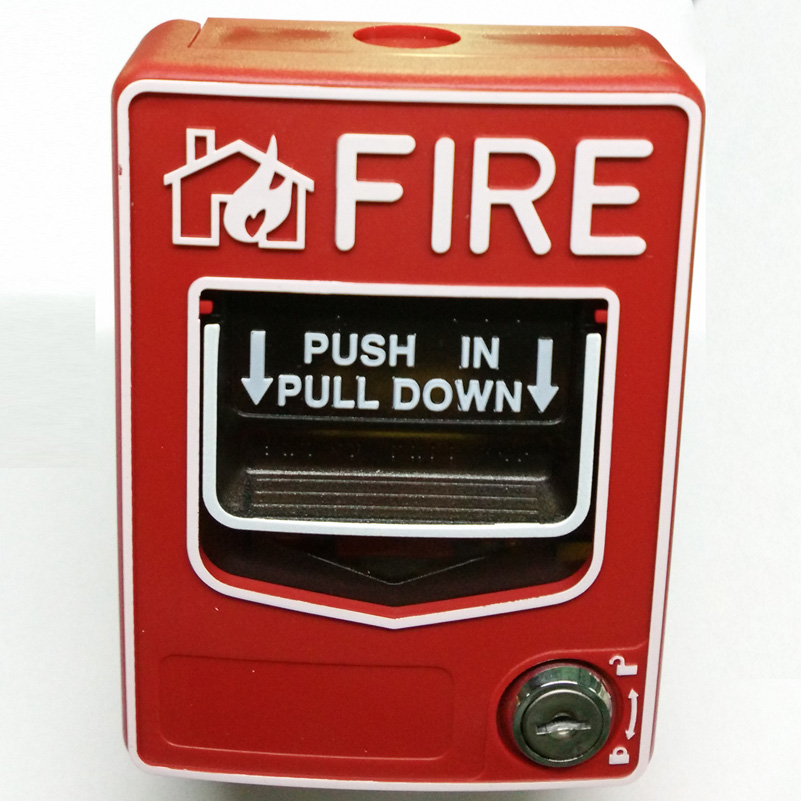 2 Wires Conventional Fire Alarm Manual Call Point Push In Pull Down Station Fire Alarm Button Works With Any Conventional Panel