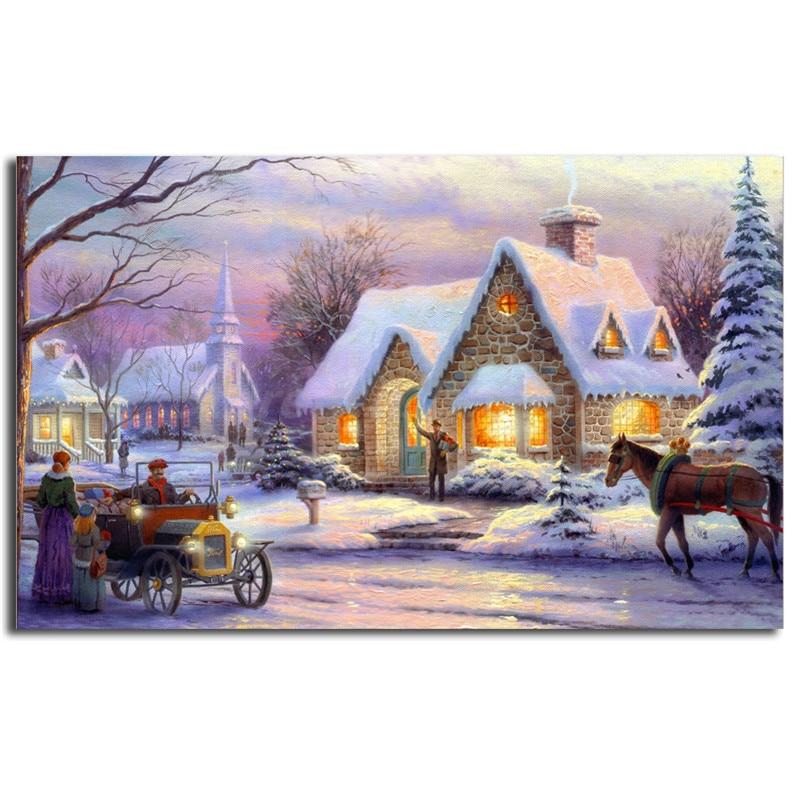 Memories Of Christmas By Thomas Kinkade Wall Art Canvas Posters ...
