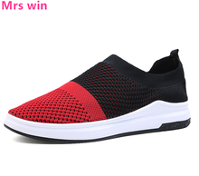 Summer Style Men and Women Light Running Shoes Non-slip Mesh Neutral Sneakers Flat Cut-outs Outdoor Sport Fight Color Shoes