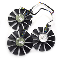 New 85MM T129215SU 6P DC 12V 0 50A Cooling Fan For ASUS STRIX Raptor GTX980Ti R9