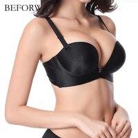 BEFORW Super Push Up Women Bra Sexy Brassiere Underwear Backless Strapless Seamless Bras For Women Sutian