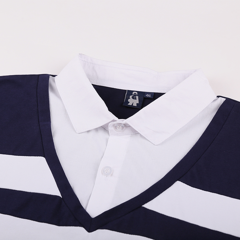 Mâle Courte Chemise Polo Hommes 10xl D'été Top 2 Manches Vêtements Shirts Casual De Rayé 1 8xl 2018 Mode 6xl Marque vSvaR