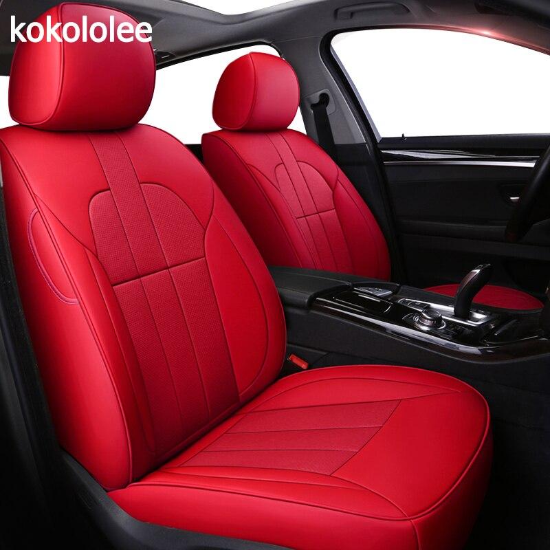 kokololee Custom real leather car seat cover for Volvo S80 XC60 S60 C30 C70 V60 V40