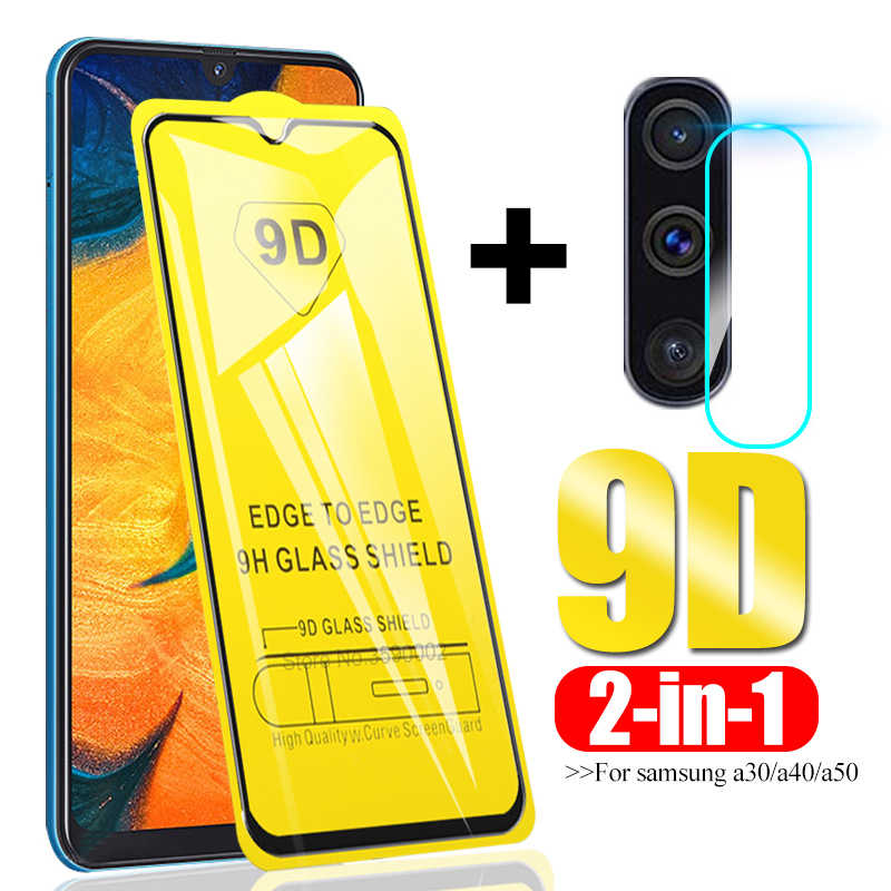 9D Full Glue protective glass For Samsung galaxy A50 A40 A30 Camera lens Film on the sumsung galax a 50 30 safety tempered glass