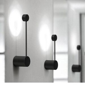 Image 1 - 2020 NEUE Minimalistischen kunst Punkte wand licht moderne LED wohnzimmer wand lampe Nordic kreative gang leuchten Schwarz Weiß
