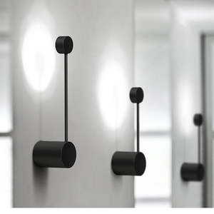 Image 1 - 2020 新ミニマルアートドットウォールライト現代の主導リビングルームの壁ランプ北欧クリエイティブ通路照明器具ブラックホワイト