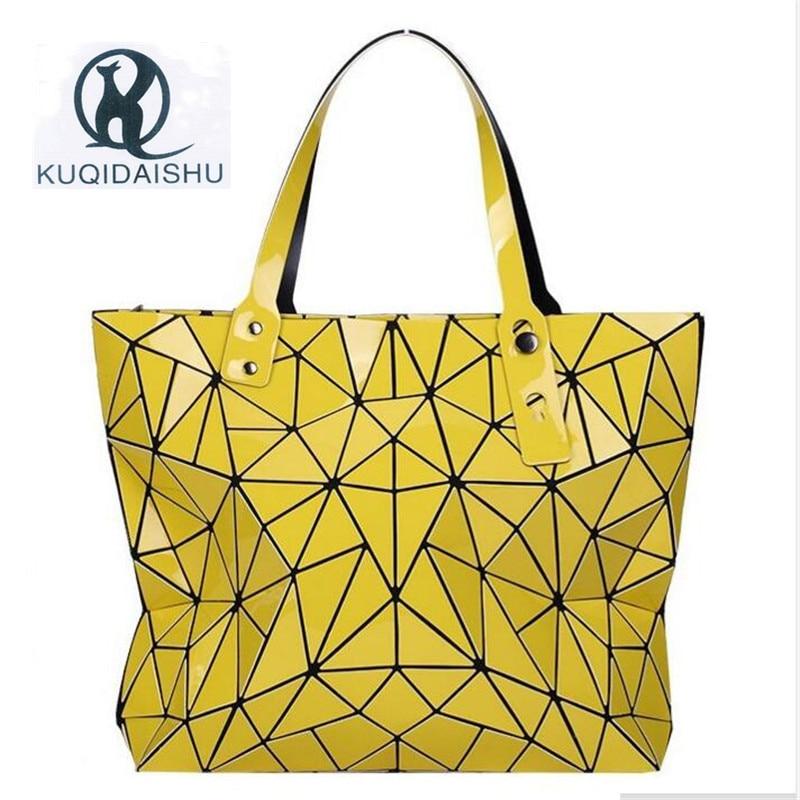 Mulheres Saco de Venda Quente Bao Bolsa de Ombro Feminino Novas Bolsas De Luxo Mulheres Sacos De Designer De Geometria Holograma Top-Handle Bag