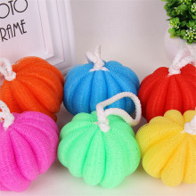 1PC Pumpkin Bath Ball Mesh Loofah Brushes Flower Sponge bathroom Accessories For Body  Exfoliation Cleaning