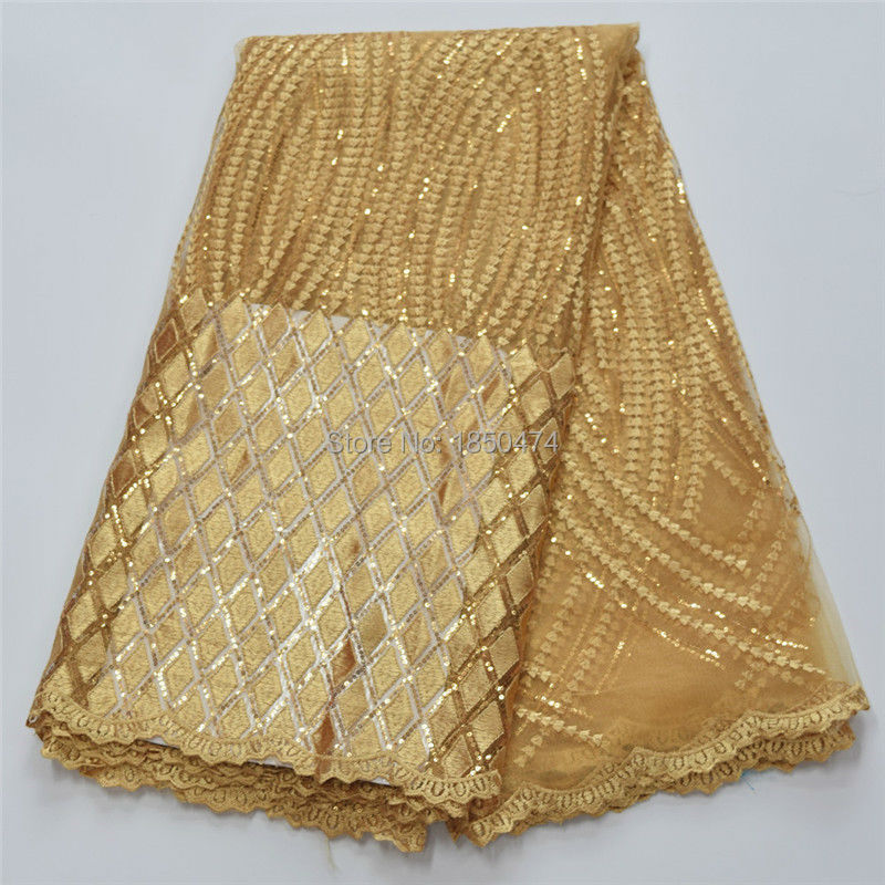 French Lace Fabric High Class African Laces Fabric Double Organza With Sequins Embroidery For Sewing Beauty