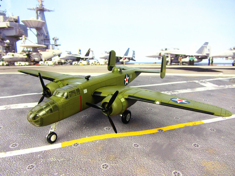 US Army Airforce B-25B model 1:144 high simulation model fighter bomber aircraft model Tokyo Raiders