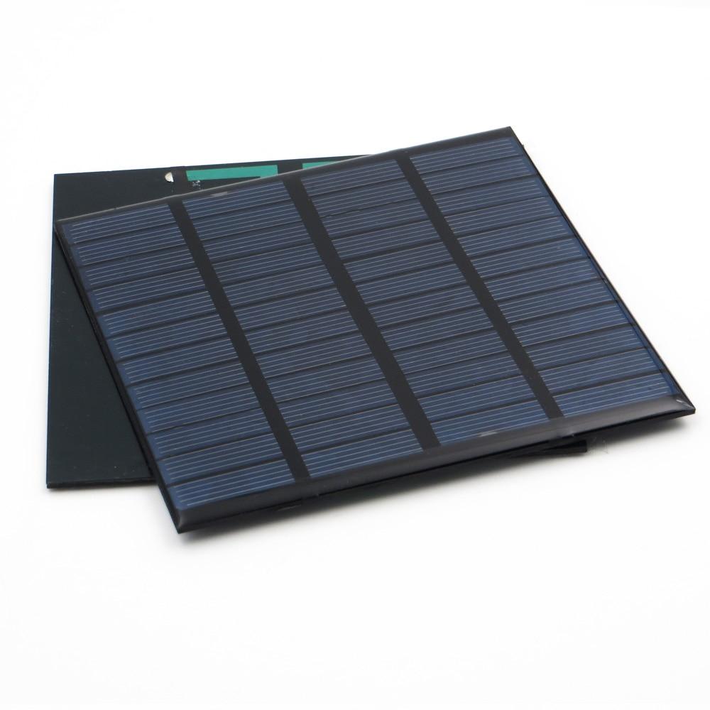 Solar Panel 12 V Volt Battery Cell Phone Chargers 12V DC Mini Solar Kit DIY For Portable 1.5W 1.8W 1.92W 2W 2.5W 3W 4.2W