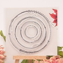 Sewing thread round transparent Clear Silicone Stamp/Seal for DIY scrapbooking/photo album Decorative clear stamp sheets