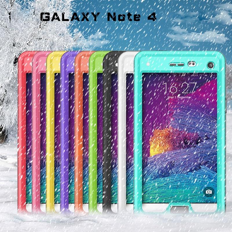 imágenes para IP68 A Prueba de agua para Samsung Galaxy Note 4 Fotografía Caso Nota4 Cubierta Bajo El Agua 2 m Resistente Al Agua Completo Sellado Bolsas