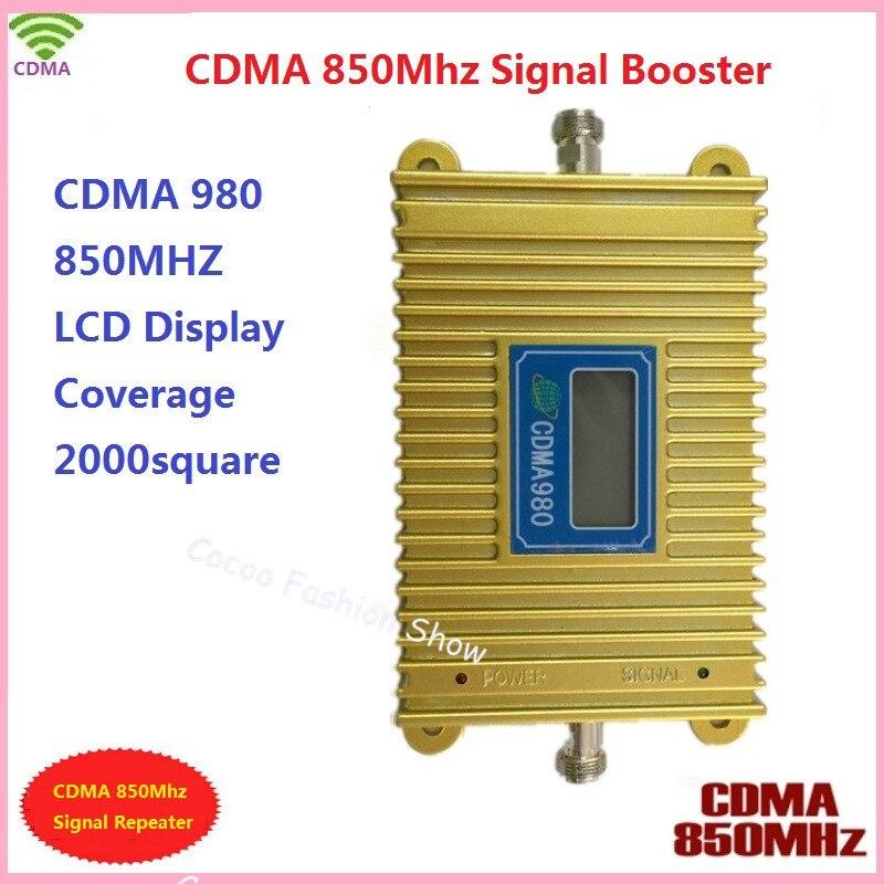 Écran LCD!!! Amplificateur de Signal CDMA 850 Mhz pour téléphone portable CDMA 980, amplificateur de répéteur de Signal CDMA pour téléphone portable avec adaptateur secteur