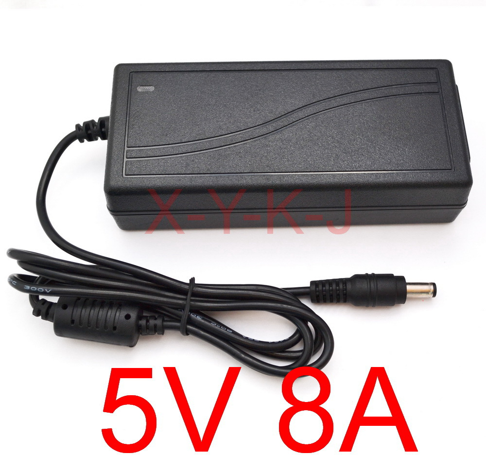High quality IC solutions 20PCS DC 5V 8A Switch power supply 40W LED power adapter Free