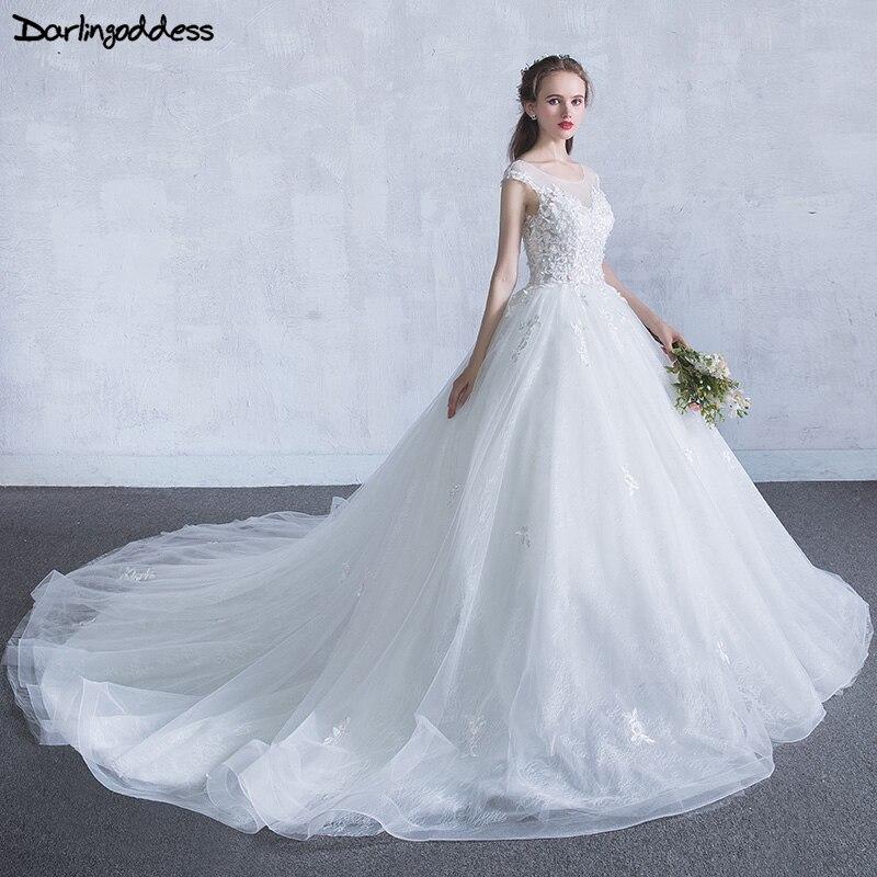 Robes de mariée en dentelle de luxe Vestido de Novia turquie blanc Appliques fleurs roses Vintage robes de mariée princesse 2018 Photo réelle