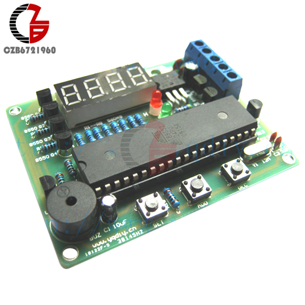 DIY Kits DS18B20 AT89C2051 LED Digital Temperature Controller DC 5V Themostat Thermometer Temperature Regulator Control Alarm green led mini temperature meter dc 12v 24v digital thermometer 1m ds18b20 sensor